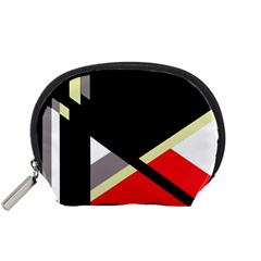Red and black abstraction Accessory Pouches (Small)