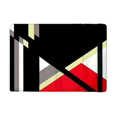 Red and black abstraction iPad Mini 2 Flip Cases