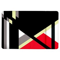 Red and black abstraction iPad Air Flip