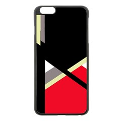 Red and black abstraction Apple iPhone 6 Plus/6S Plus Black Enamel Case