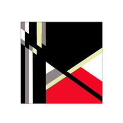 Red and black abstraction Satin Bandana Scarf