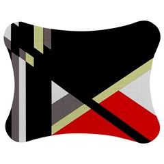 Red And Black Abstraction Jigsaw Puzzle Photo Stand (bow)