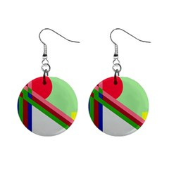 Decorative abstraction Mini Button Earrings