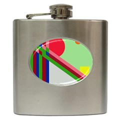 Decorative abstraction Hip Flask (6 oz)