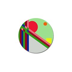 Decorative abstraction Golf Ball Marker