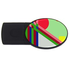 Decorative abstraction USB Flash Drive Oval (1 GB)
