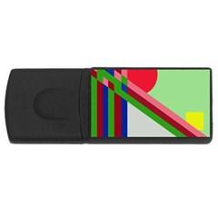 Decorative abstraction USB Flash Drive Rectangular (2 GB)
