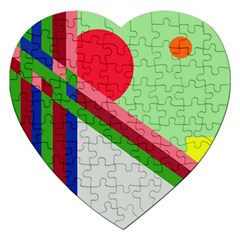 Decorative abstraction Jigsaw Puzzle (Heart)