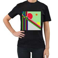 Decorative abstraction Women s T-Shirt (Black)