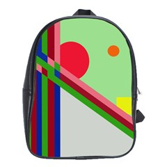 Decorative abstraction School Bags(Large)