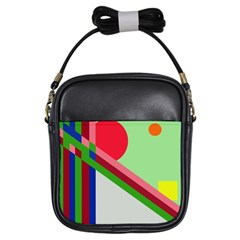 Decorative abstraction Girls Sling Bags
