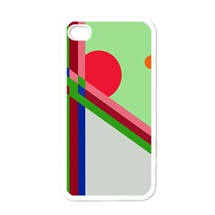 Decorative abstraction Apple iPhone 4 Case (White)