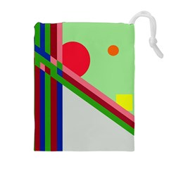 Decorative abstraction Drawstring Pouches (Extra Large)
