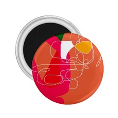 Orange abstraction 2.25  Magnets
