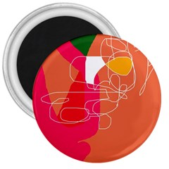 Orange abstraction 3  Magnets