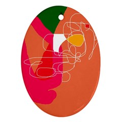 Orange abstraction Ornament (Oval)