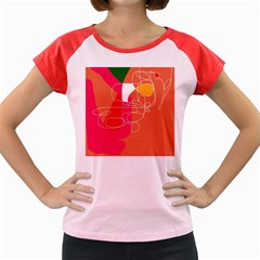 Orange abstraction Women s Cap Sleeve T-Shirt