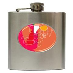 Orange abstraction Hip Flask (6 oz)
