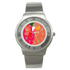 Orange abstraction Stainless Steel Watch