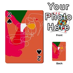 Orange abstraction Playing Cards 54 Designs