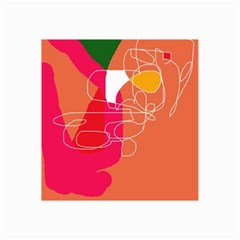 Orange abstraction Collage Prints