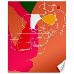 Orange abstraction Canvas 11  x 14