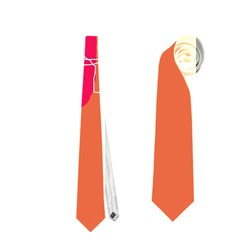 Orange abstraction Neckties (Two Side)