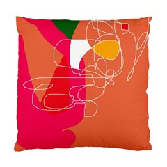 Orange abstraction Standard Cushion Case (One Side)