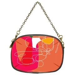 Orange abstraction Chain Purses (Two Sides)