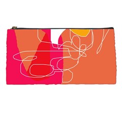 Orange abstraction Pencil Cases