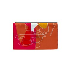 Orange abstraction Cosmetic Bag (Small)