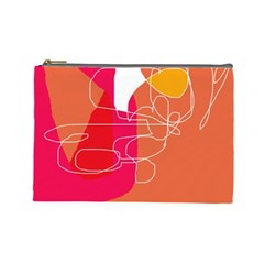 Orange abstraction Cosmetic Bag (Large)