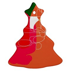 Orange abstraction Christmas Tree Ornament (2 Sides)