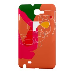 Orange abstraction Samsung Galaxy Note 1 Hardshell Case