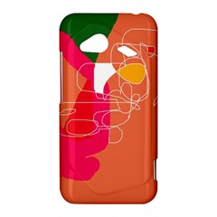 Orange abstraction HTC Droid Incredible 4G LTE Hardshell Case