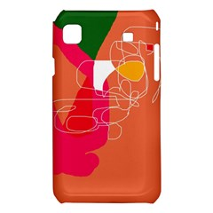 Orange abstraction Samsung Galaxy S i9008 Hardshell Case