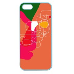 Orange abstraction Apple Seamless iPhone 5 Case (Color)