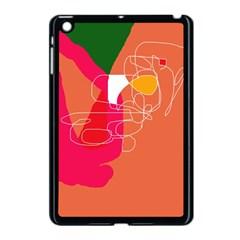 Orange abstraction Apple iPad Mini Case (Black)