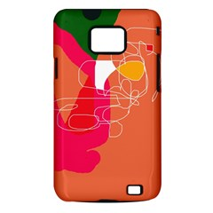 Orange abstraction Samsung Galaxy S II i9100 Hardshell Case (PC+Silicone)