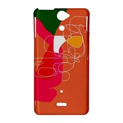 Orange abstraction Sony Xperia V