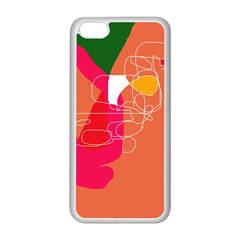 Orange abstraction Apple iPhone 5C Seamless Case (White)