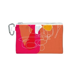 Orange abstraction Canvas Cosmetic Bag (S)