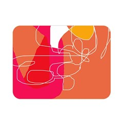 Orange abstraction Double Sided Flano Blanket (Mini)