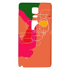 Orange abstraction Galaxy Note 4 Back Case