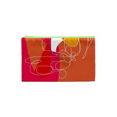 Orange abstraction Cosmetic Bag (XS)