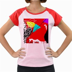 Colorful abstraction Women s Cap Sleeve T-Shirt