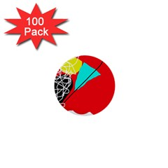 Colorful abstraction 1  Mini Buttons (100 pack)