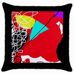 Colorful abstraction Throw Pillow Case (Black)