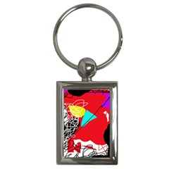 Colorful abstraction Key Chains (Rectangle)
