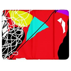 Colorful abstraction Samsung Galaxy Tab 7  P1000 Flip Case